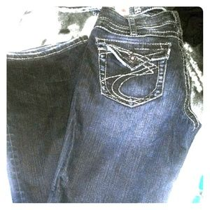 31/33 silver bootcut jeans